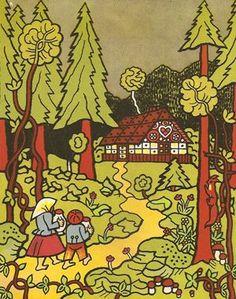 Perníková chaloupka Josef Lada: Creepy, Scary, Czech Republic, Mythology, Childrens Books, Folk Art, Fairy Tales, The Past, Design Inspiration