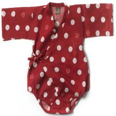 Zebi Red Dot Baby Linen Kimono Baby Wrap - Not Another Baby Shop - Babies, Toddlers & Kids Baby Kimono, Kids Outfits, Cute Outfits, Retro Baby, Presents For Kids, Red Dots, Polka Dots, Toddler Fashion, Fashion Kids