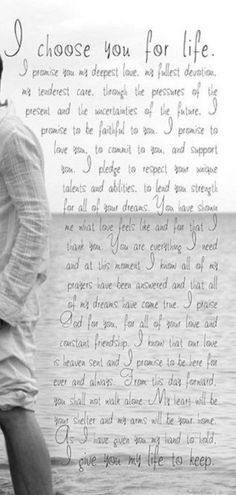 Wedding vows to husband quotes sweets Ideas wedding quotes Marriage Vows, Love And Marriage, Marriage Advice, Love Poems, Love Quotes For Him, You Complete Me Quotes, Wedding Vows To Husband, Personal Wedding Vows, Best Wedding Vows
