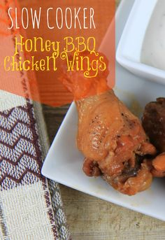 Slow Cooker Honey BBQ Chicken Wings - BargainBriana