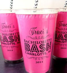 Bachelorette Party Destination Wedding Party Cups by Celebr8tions