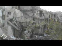 VÍDEOS INÉDITOS DA GUERRA NA SÍRIA - CIDADE ARRASADA - PRÉDIOS BOMBARDEADOS