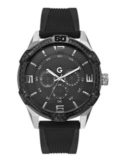 Silver-Tone and Black Oversized Watch 9a0859e6d3