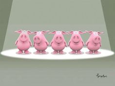 Hog Cappella / A Capella Singers This Little Piggy, Cute Little Things, Little Pigs, Toot & Puddle, Peppa Pig Family, Cute Piglets, Tout Rose, Sandra Boynton, Pigs