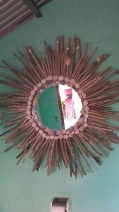 Mirror espejo palos madera