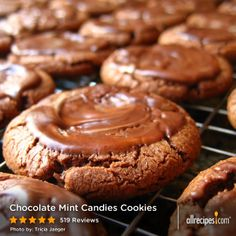 """Chocolate Mint Candies Cookies   I'm not a big cookie-lover, but after I made these cookies I was hooked. EVERY TIME I bake them for others the response is, """"Can I have the recipe?"""""""