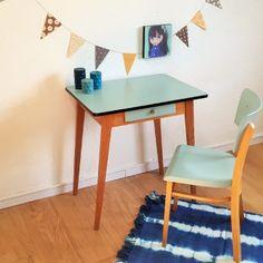 Paulette, la table bureau des années 50 rénovée par Chouette Fabrique