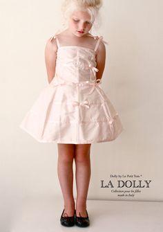 LA DOLLY 'the MANNEQUIN DRESS' 100% silk in lightpink