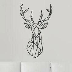 Sticker mural tête de cerf