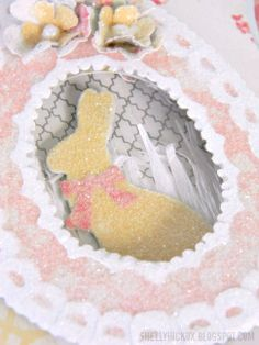 Card by Shelly Hickox  (030613)  [sugared egg, Clear Rock Candy (Distress Stickles)]