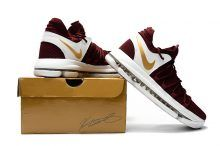 huge selection of 458e2 5ab8d Wine Red Gold Nike KD 10