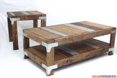 Industrial Coffee Table - Free Project Plans | rogueengineer.com/ #Industrial_Coffee_Table