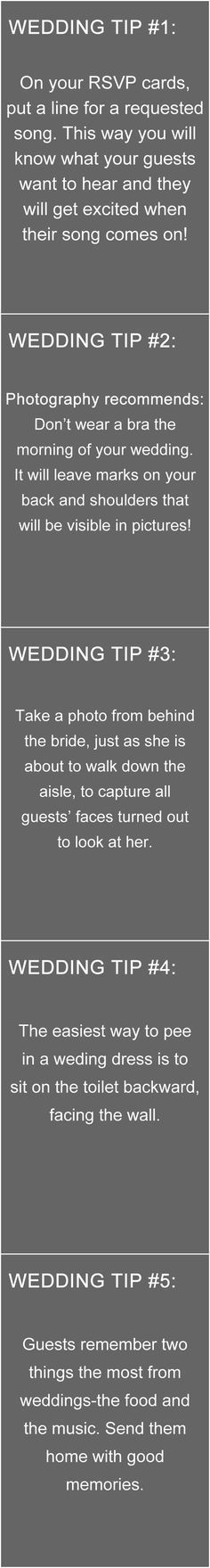 top 10 wedding tip i