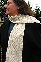 A wonderful pattern! I even used this Celtic Cable Scarf to make a Celtic Dishcloth for the Kitchen. ::: #Crafts, #Knitting, #Yarn