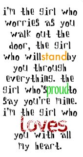 I'm the girl.
