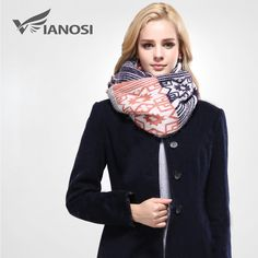 [VIANOSI]  European Style Winter Scarf Women Foulard Brand Shawls and Scarves Best Quality Cotton Scarf Woman Wraps VA092