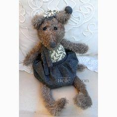 Mysz Dania szary - BelleMaison.pl Shabby Chic, Teddy Bear, Toys, Animals, Home Decor, Activity Toys, Animales, Decoration Home, Animaux