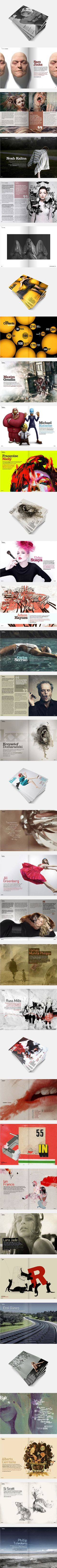 Lots of cool ideas in this one; was looking for pull-quote ideas specifically Bak Magazine on Behance