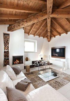 Many homeowners today would love to get the price of their home much higher through interior design. Many people, however, are lacking in that creative eye for decorating their home. Modern Rustic Interiors, Living Room Modern, Home And Living, Living Room Decor, Living Area, Living Rooms, Home Interior Design, Interior Architecture, Room Interior