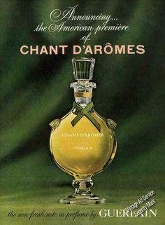Publicité Vintage -  Parfum Guerlain - Années 1960