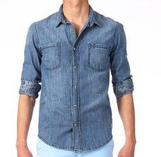 Tenue de plage : chemise en jean Elevan