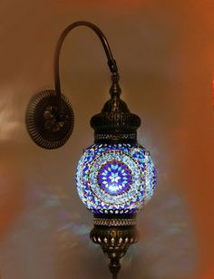 Blue Turkish Style Mosaic Lighting Wall Sconce traditional wall sconces