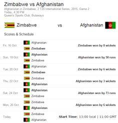 #Zimbabwe  Vs #Afghanistan  Live Streaming Info: 2nd #T20  #Cricket  Match Team Squad, Score Result Channel List – 28th October 2015 - #ZIMvsAFG