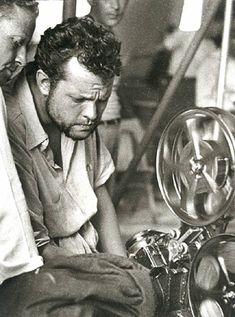 Orson Welles editing Macbeth.