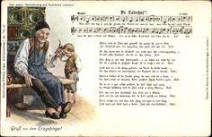 Lied Ak De Ladrhus', Gruß aus dem Erzgebirge, Lederschuh, Großvater #Erzgebirge