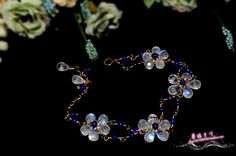 【十样花】清透蓝光月光石上品青金石14k注金花朵双排手链-淘宝网全球站