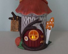 Fairy House or Handmade Bird House Bumble Bee by TeresasCeramics