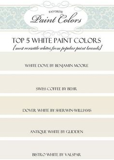 Interior Paint Color Palette Ideas