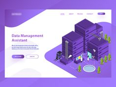 Data Management  Asistant Landing Page by Aryo Wicaksono - Dribbble