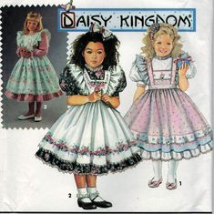 Simplicity 8318 Daisy Kingdom Child's Dress And Pinafore Size AA (2-4)  #sharpharmade