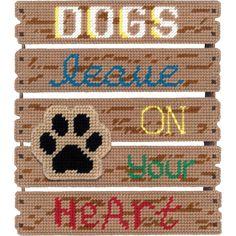 """Pallet-Ables Dogs Leave Pawprints Plastic Canvas Kit-10.5""""X11.5""""X1.25"""" 7 Count"""