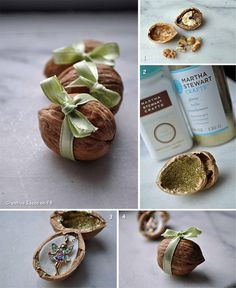 DIY Fairy Walnut Presents. A little magical and ever so special.