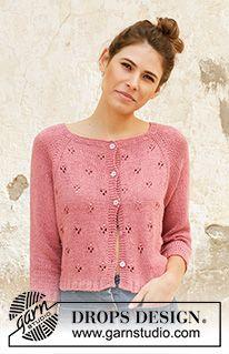 Women - Free knitting patterns and crochet patterns by DROPS Design Cardigan Design, Knit Cardigan Pattern, Sweater Knitting Patterns, Knitting Stitches, Knitting Designs, Free Knitting, Knitting Tutorials, Drops Design, Raglan Pullover