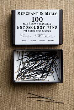 Entomology Pins from Merchant & Mills: $12.00