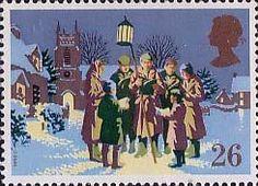 Christmas 26p Stamp (1990) Carol Singing