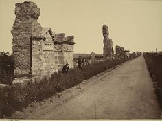 Via Appia Rome before 1907 Giorgio Sommer Appian Way, Best Cities In Europe, Roman Roads, Grand Tour, Old Photos, Monument Valley, Mount Rushmore, Rome, Travel Photography