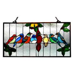 Found it at Wayfair - Gathering Birds Window Panel