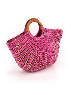 The Sak Satchel Women: Pink Solid Bags Free Crochet Bag, Crochet Bags, Round Straw Bag, Clear Tote Bags, Art Bag, Jute Bags, Basket Bag, Wooden Rings, Black Tote