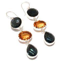 Silver Earrings – Black Onyx - 925 Silver Drop & Dangle Earrings – a unique product by 925silvercollection on DaWanda