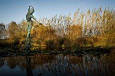 #Bronze #sculpture by #sculptor Simon Gudgeon titled: 'Sylph (bronze Fragmented…