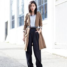 Cool Trench #trenchcoat #belt