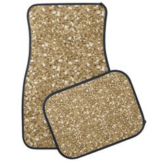 Gold Faux Glitter Floor Mat