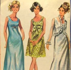 Vintage 1960s sewing pattern McCall's 9475 Misses' Evening Dress in Two Lengths and Jacket, Size 14. $14.99, via Etsy.
