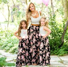 Unicorn 2019 MVUPP Mommy and me family matching mother daughter dresses clothes striped mom daughter dress kids parent child outfits look Mother Daughter Matching Outfits, Mother Daughter Fashion, Mom Daughter, Matching Family Outfits, Matching Clothes, Daughters, Mommy And Me Dresses, Mommy And Me Outfits, Mom Dress