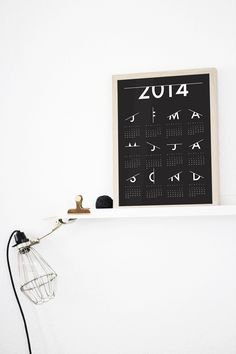 'Scratched' Calendar 2014 - by Coco Lapine Design