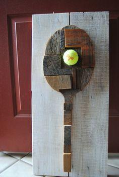tennis racquet decor!
